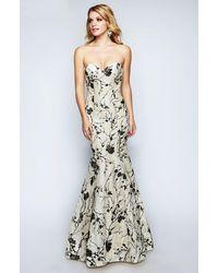 Nina Canacci 1455 Strapless Lace Mermaid Evening Dress - Multicolor