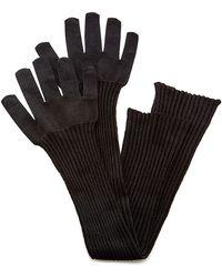 Oscar de la Renta - Black Wool Gloves - Lyst