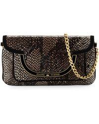 Elaine Turner Greta Snake-Print Leather Shoulder Bag - Lyst