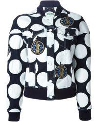 Kenzo Dots and Logo Denim Jacket - Lyst