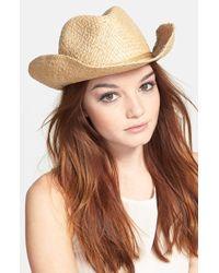Hinge Metallic Straw Cowboy Hat - Metallic
