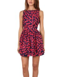 Thakoon Addition Thakoon Backless Flared Skirt Dress - Blue