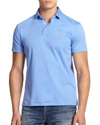 Polo Ralph Lauren Pima Soft-Touch Polo blue - Lyst