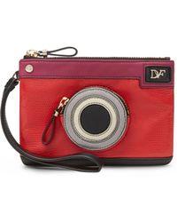Diane von Furstenberg Voyage Snapshot Leather Wristlet - Lyst