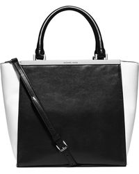Michael by Michael Kors Lana Medium Colorblock Tote Bag - Lyst