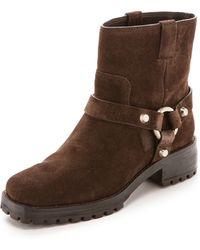 Michael Kors Macey Flat Short Boots - Chocolate - Lyst