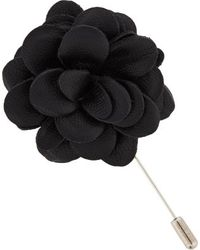 Lanvin Leather Blooming Rose Tie Pin - Lyst