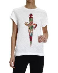 Cesare Paciotti | T-shirt Half Sleeve Dagger Embroidery | Lyst