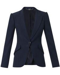 Alexander McQueen Leaf-Crepe Tailored Jacket - Lyst
