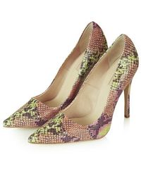 Topshop Gallop Snake-Effect Courts - Lyst