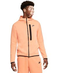 Nike - Sportswear Tech Fleece Hoodie Orange Frostdd3100-835 - Lyst