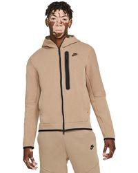 Nike - Sportswear Tech Fleece Hoodie Taupe Haze/blackdd3100-229 - Lyst