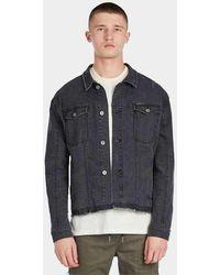 Zanerobe Snitch Denim Jacket Vintage Navy503-lykm - Blue