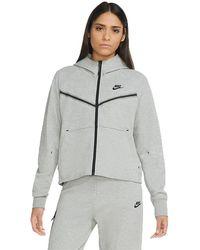 Nike - Sportswear Tech Fleece Hoodie Dark Grey/blackcw4298-063 - Lyst
