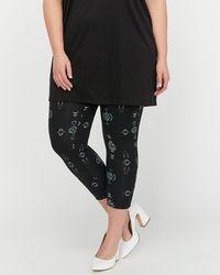 Addition Elle - Capri Legging With Aztec Print - Lyst