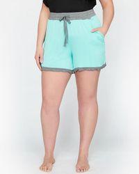 Addition Elle - Pajama Short With Frilled Hem - Déesse Collection - Lyst