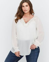 Addition Elle - Dot Tunic Blouse (plus Size) - Lyst