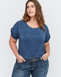 Addition Elle - L&l Essential Twisted Short Sleeve Crew Neck T-shirt - Lyst