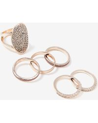 Addition Elle - Set Of 5 Mixed Glitter Rings - Lyst