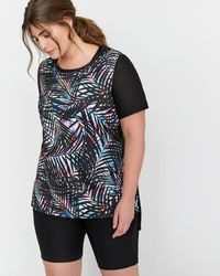 Addition Elle - Nola Mixed Fabric No Sweat T-shirt - Lyst