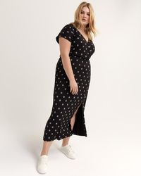 d27bd17c8eb8 Addition Elle - Faux-wrap Printed Maxi Dress - Michel Studio - Lyst