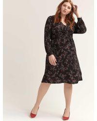 c30df41aa172 Addition Elle - Crisscross Faux Wrap Printed Dress - Michel Studio - Lyst