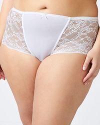 Addition Elle - Boyshort Panty With Lace - Ti Voglio - Lyst
