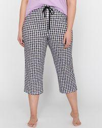 Addition Elle - Déesse Collection - Printed Pajama Straight Capri Pant - Lyst
