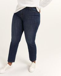 687629c65c1 Addition Elle - Slightly Curvy Fit Straight Leg Jean With Embroidery - D c  Jeans