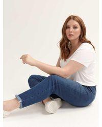 de5922f573 Addition Elle L&l X Jordyn Woods Heavy Ripped High Waist Mom Jeans in Blue  - Lyst