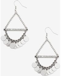 Addition Elle - Triangle Dangle Disc Earrings - Lyst
