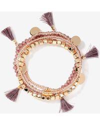 Addition Elle - Multi-pack Tassel & Disc Bracelet - Lyst