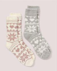 Addition Elle - Fair Isle Plush Socks - 2 Pac - Lyst