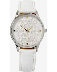 Addition Elle - White Watch With Lace Dial Detail - Lyst