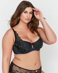 d256b9d696f2f Lyst - Addition Elle Ashley Graham Diva Lace Demi Cup Bra With Front ...