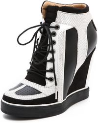 L.A.M.B. - Summer Lace Up Wedge Sneakers - Lyst