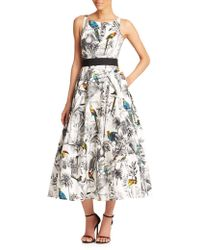 Milly Serena Tropical-Print Dress - Lyst
