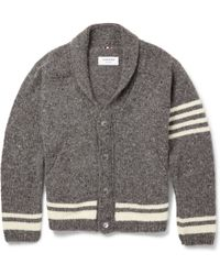 Thom Browne Wool and Mohairblend Cardigan - Lyst