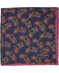 Duchamp Bicycle Pocket Square - Lyst