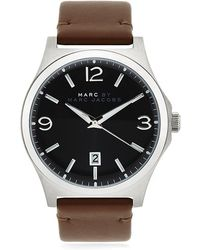 Marc By Marc Jacobs - Danny Leather Strap Watch - Lyst