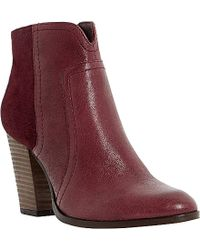 Dune Pollo Suede-Panel Leather Ankle Boots - For Women - Lyst