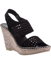 Andre Assous Cyline Wedge Espadrille Black Suede black - Lyst