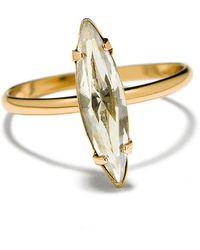 Bing Bang Crystal Shard Swarovski And 14K Yellow Gold Ring - Metallic