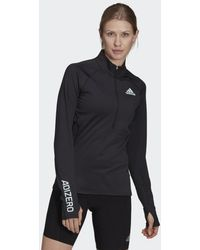 adidas T-shirt Adizero 1/2 Zip Long Sleeve - Noir