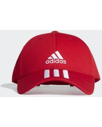 adidas Baseball 3-stripes Twill Pet - Rood