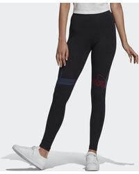 adidas Loungewear Adicolor Tricolor Legging - Zwart