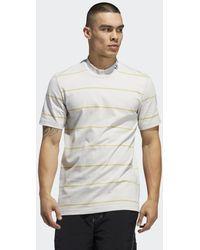 adidas Mock Eye Yarn Dye T-shirt - Grijs