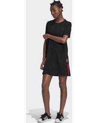 adidas Adicolor 3d Trefoil T-shirt Jurk - Zwart