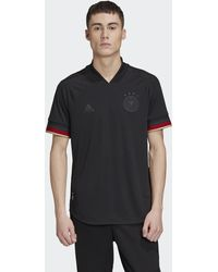 adidas Germany Away Authentic Jersey - Black