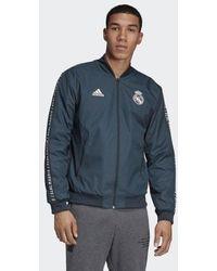 adidas Real Madrid Anthem Jacke - Blau